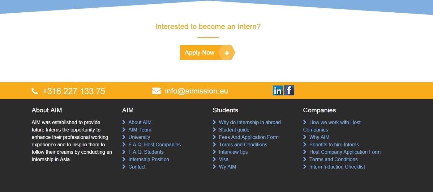 asia internship mission